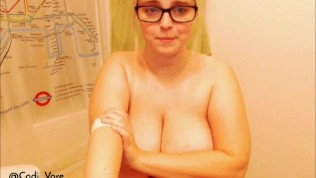 Big Tits Camgirl Strips and Sings Recording from 2/24/17