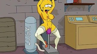 Simpsons porn – adult Lisa Simpsons fucked by sex machine and infalted