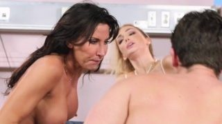 Stepmom and doctor threesome – Brazzers