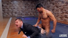 stud jean franko screwing isaac eliad in a hot pool